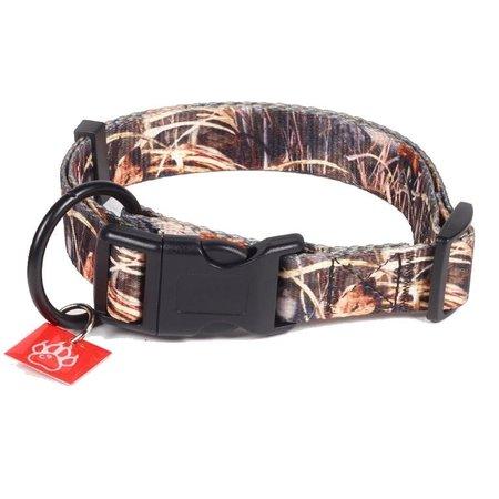 K9-evolution Nylon Halsband 25mm x 65cm (zwart, huntingcamoflage, Rozecamoflage)