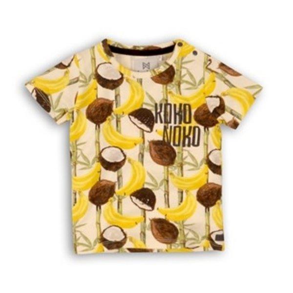 T-shirt Kokosnoot AOP Yellow