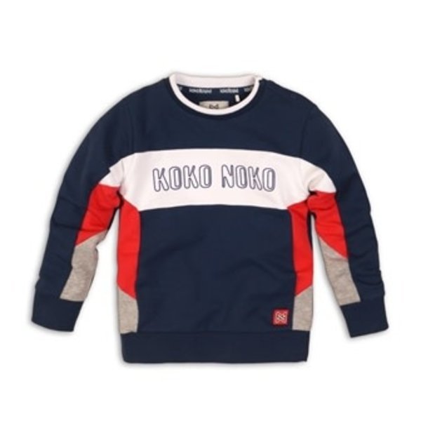 Sweater Navy, Red and Grey
