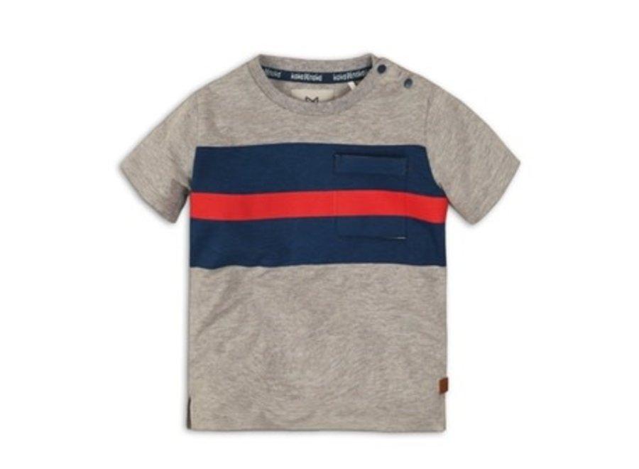 T-shirt Grey Melee en Navy