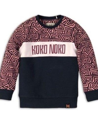 Koko Noko Sweater Pink, Navy AOP