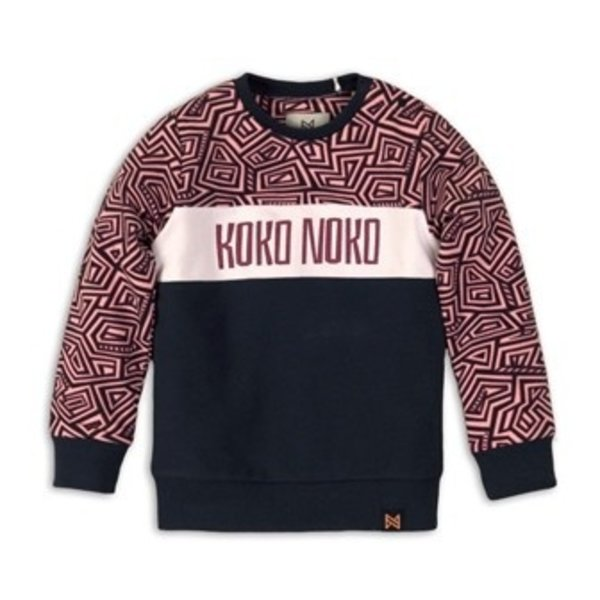 Sweater Pink, Navy AOP