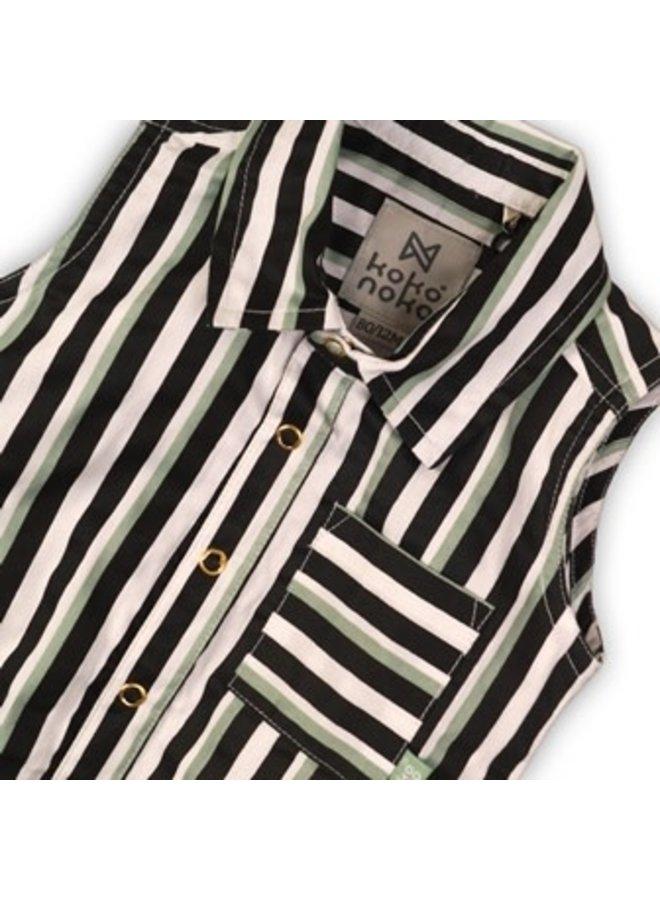 Blouse Stripe & Sage