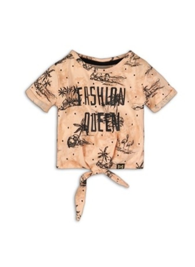 """T-shirt Blush """"Fashion Queen"""""""