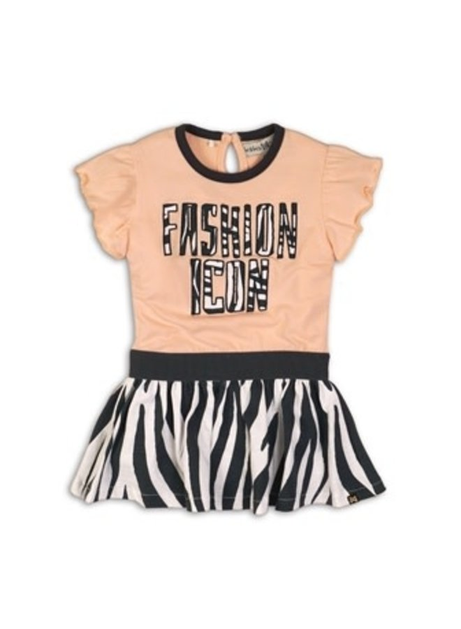 Jurk Blush Dark Grey Zebra