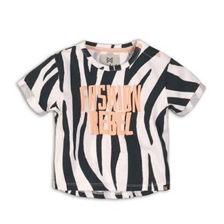 Koko Noko T-shirt Dark Grey Zebra