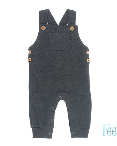 Feetje-baby Tuinbroek Antraciet - Mini Person