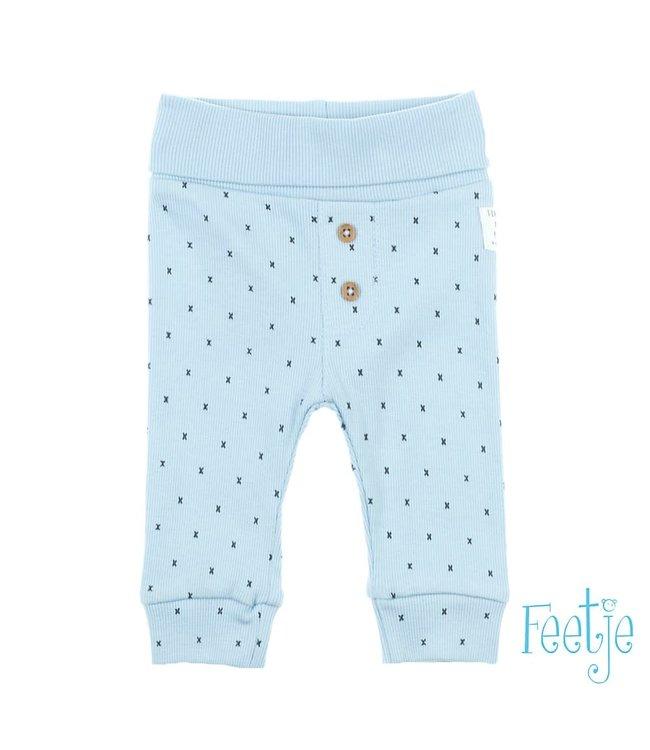 Feetje-baby Broek AOP Blauw - Mini Person