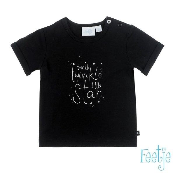 T-shirt Twinkle Zwart - Over the Rainbow