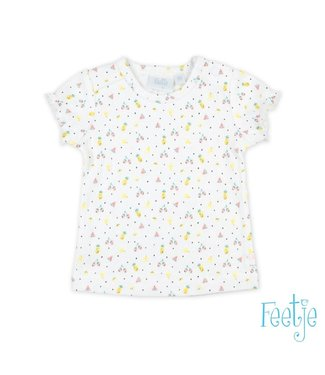 Feetje-baby T-shirt AOP Wit - Sweet By Nature