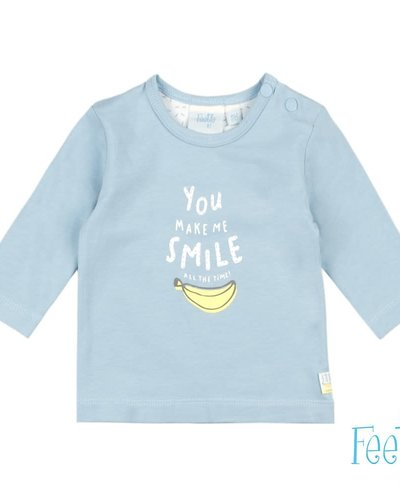 Feetje-baby Longsleeve Smile Blauw - Go Bananas