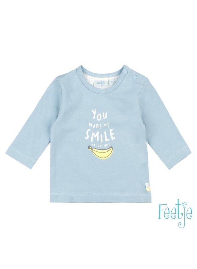 Longsleeve Smile Blauw - Go Bananas