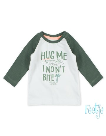 Feetje-baby Longsleeve Hug Me Wit - Bite U Later