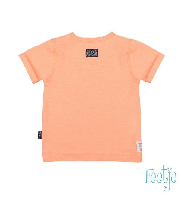 Feetje-baby T-shirt Neon Oranje - Mr. Good Looks