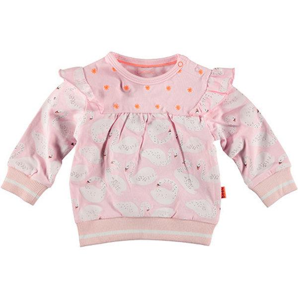 Sweater Ruffle Swan Pink