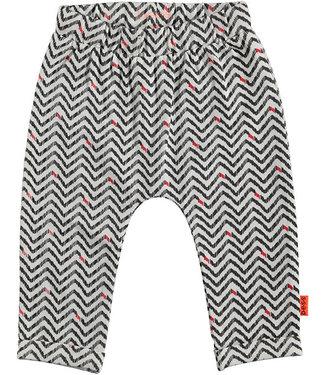 B.e.s.s Pants AOP Zigzag White