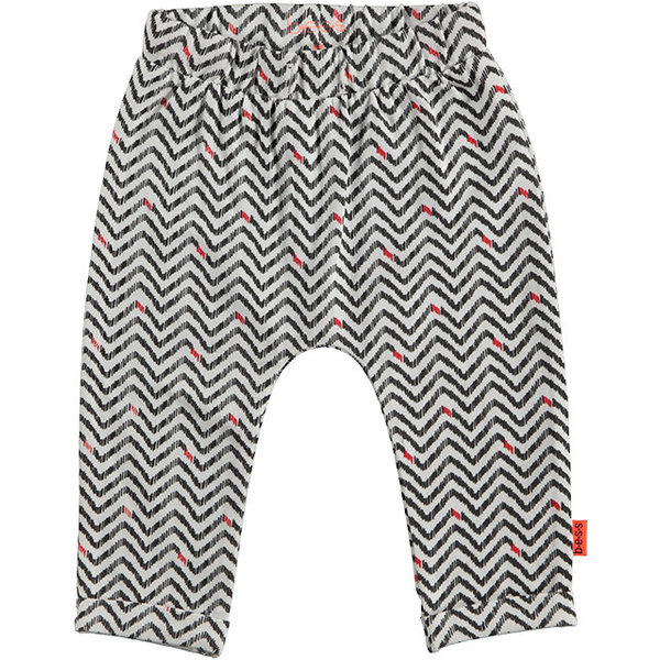 Pants AOP Zigzag White