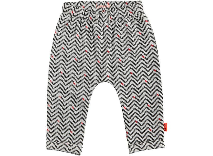 Pants AOP Zigzag White