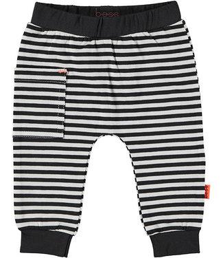 B.e.s.s Pants Striped Sidepocket Black