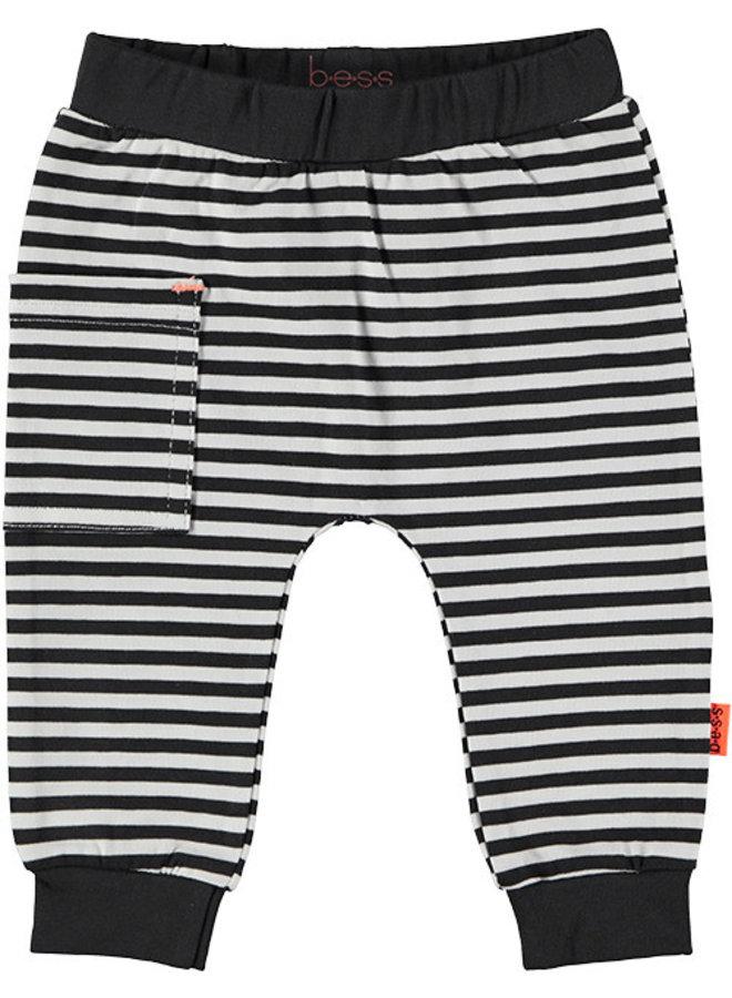 Pants Striped Sidepocket Black