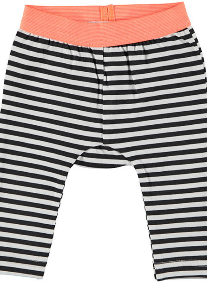 Legging Dots white of striped zwart