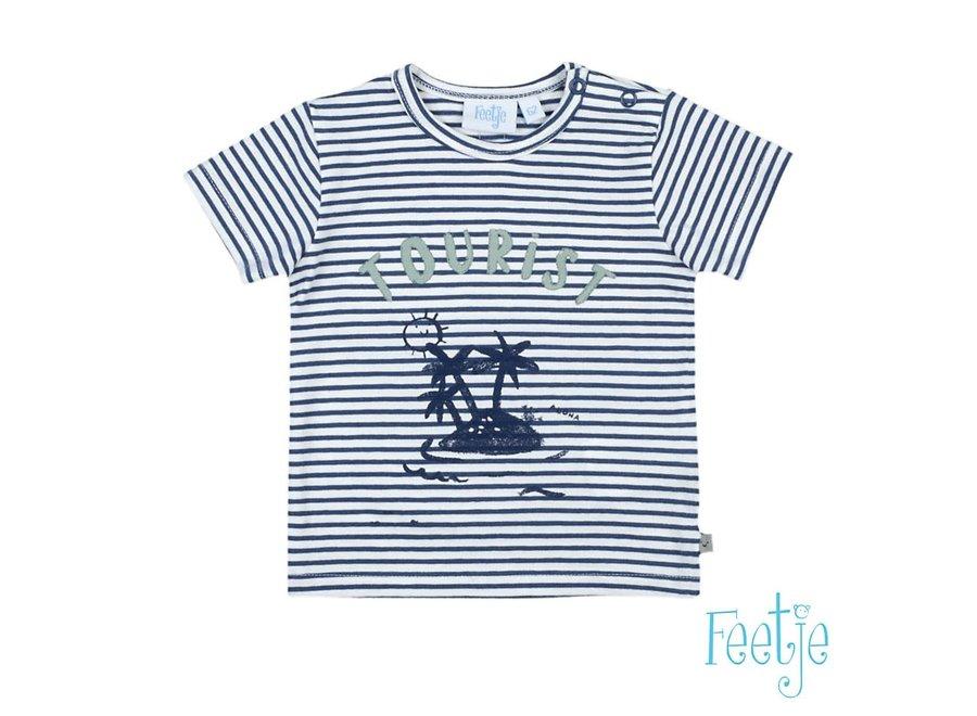 T-shirt Streep Marine - Smile & Wave