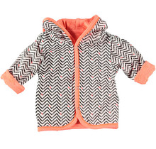 Cardigan Reversible Striped Coral