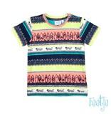 Feetje-baby T-shirt AOP Indigo - Mini Wanderer