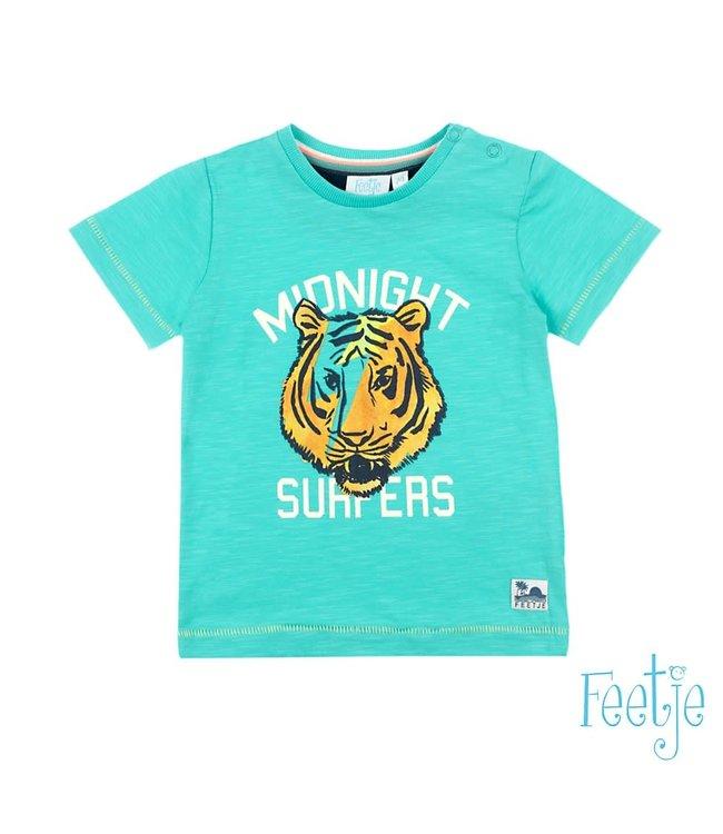Feetje-baby T-shirt Midnight Surfers Mint - Mini Wanderer