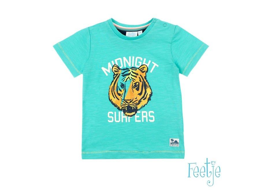 T-shirt Midnight Surfers Mint - Mini Wanderer
