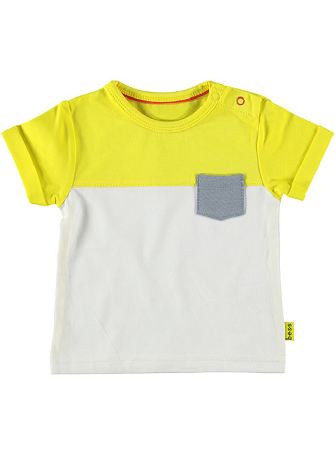 Shirt sh. sl. Colorblock Yellow