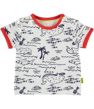 B.e.s.s Shirt sh. sl. AOP Seaworld White