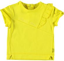 Shirt sh. sl. Ruffle Mini Me Yellow