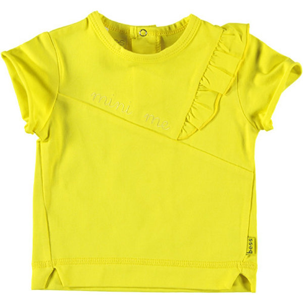 Shirt sh. sl. Ruffle Mini Me Yellow
