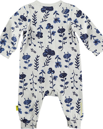 B.e.s.s Suit AOP Blue Flowers White