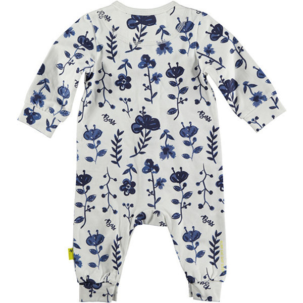 Suit AOP Blue Flowers White