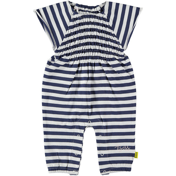 Suit Striped Smock White