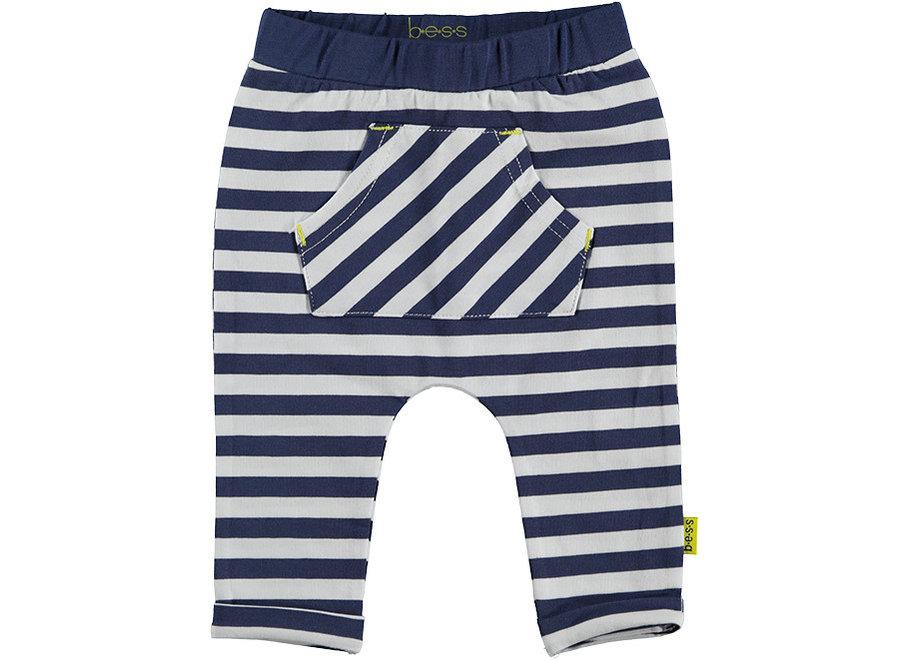 Pants AOP Striped White/Blue