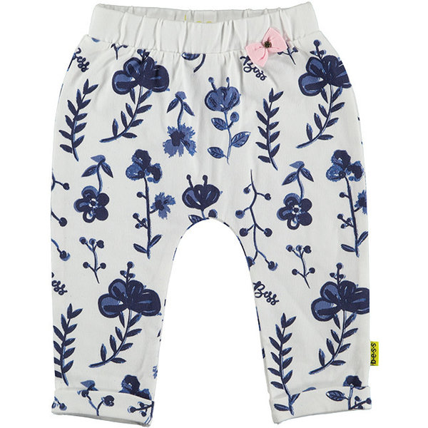 Pants AOP Blue Flower White