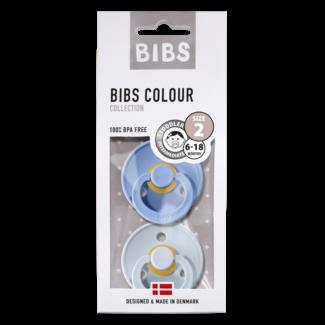 BIBS Bibs verpakt per 2 Maat 2 (6/18 maanden )