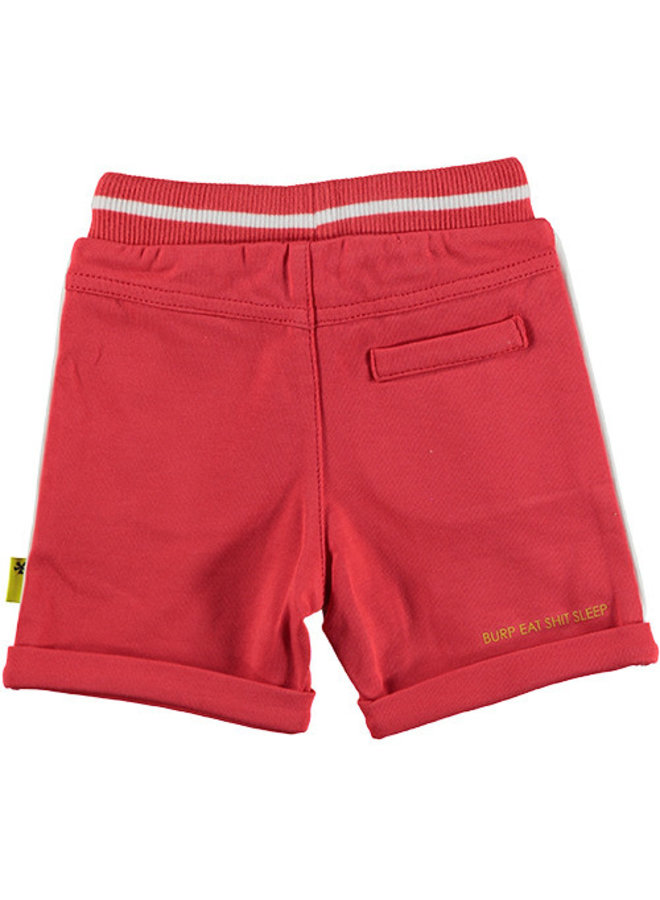 Shorts Uni with Piping Red