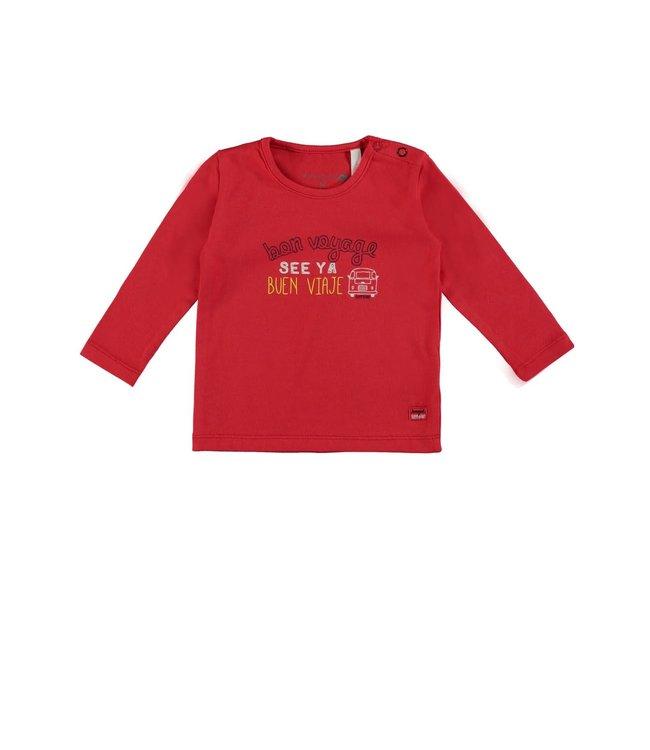 Bampidano Baby Boys T-shirt red  Bon Voyage