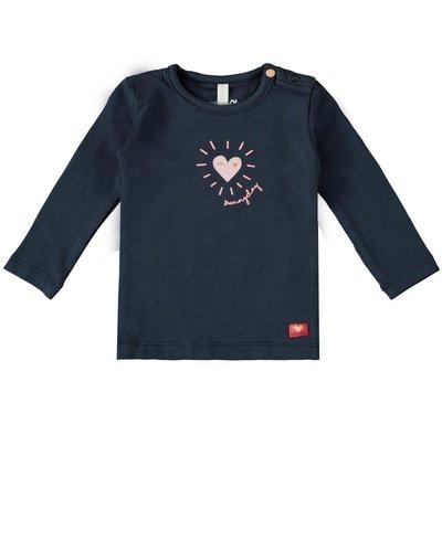 Bampidano Baby Girls T-shirt l/s Sunny Navy