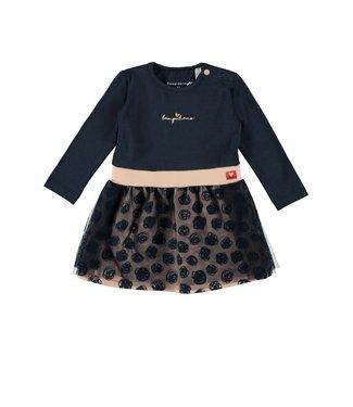 Bampidano Baby Girls Multi Dress Navy