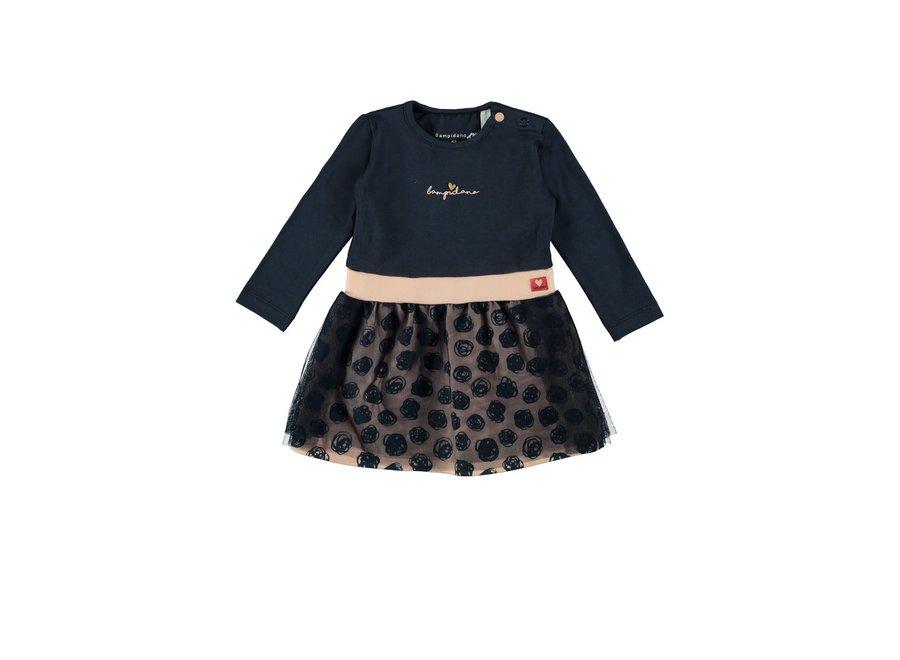Baby Girls Multi Dress Navy