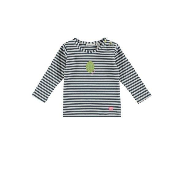 Baby Girls T-shirt Gestreept Blauw/Wit