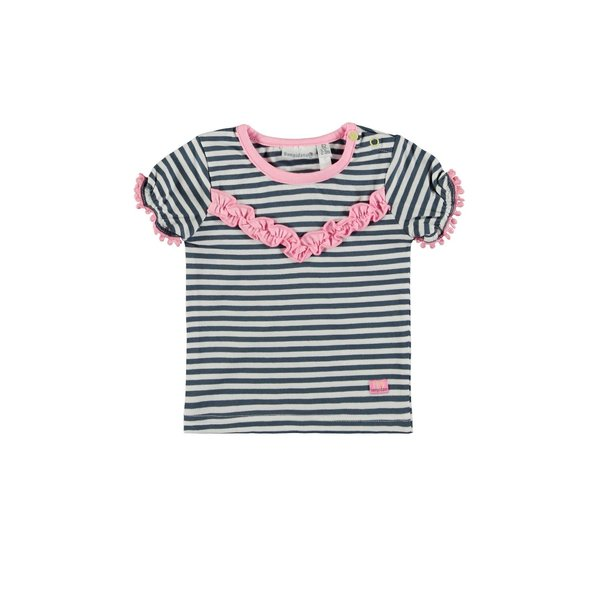 Baby Girls T-shirt Gestreept blauw/wit
