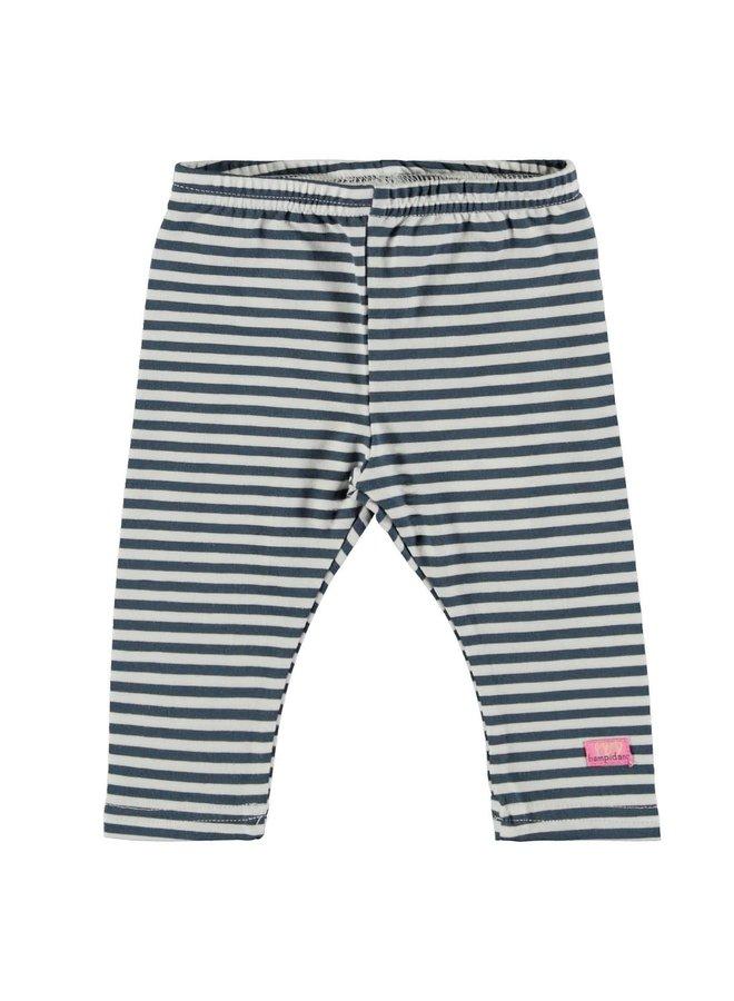 Baby Girls Legging Gestreept Blauw/wit