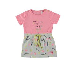 Bampidano Baby Girls Multi Dress Top Pink