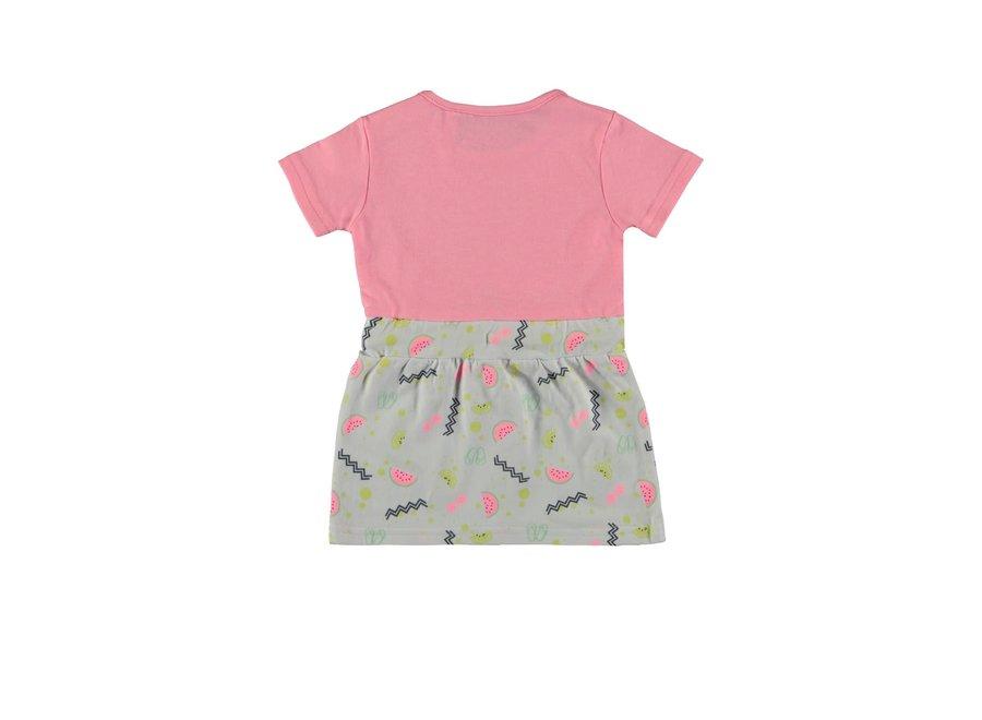 Baby Girls Multi Dress Top Pink